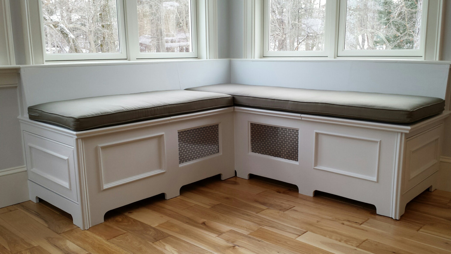 Image of: L Window Bench Cushions
