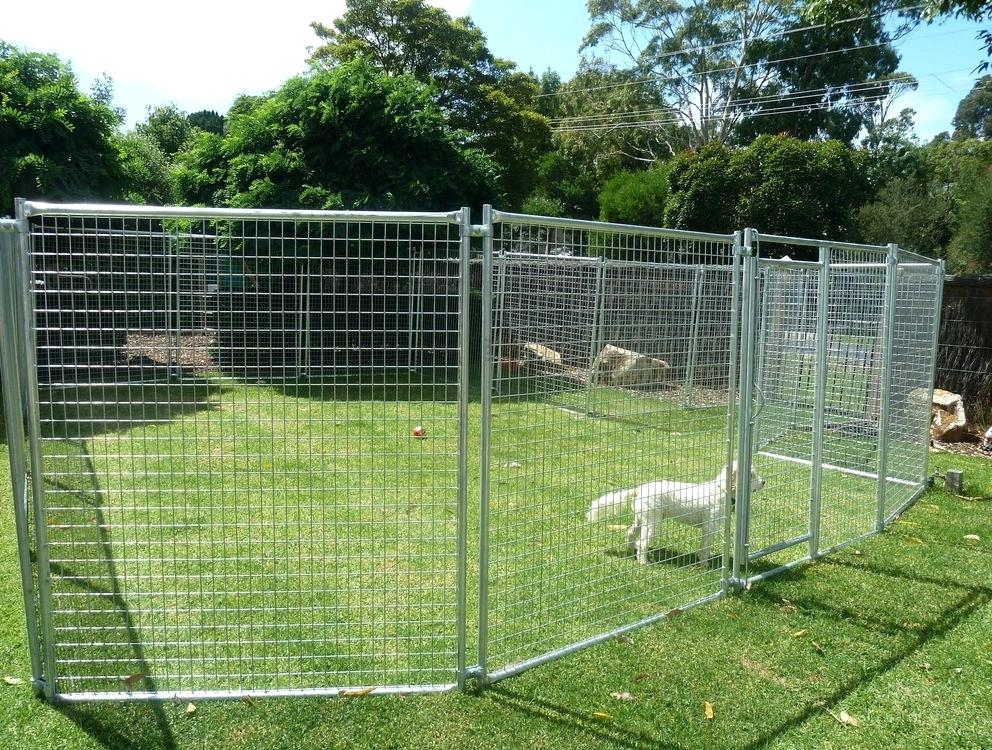 Picture of: Large Dog Fence Kennel