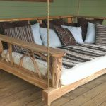 Large Wooden Bench Swing
