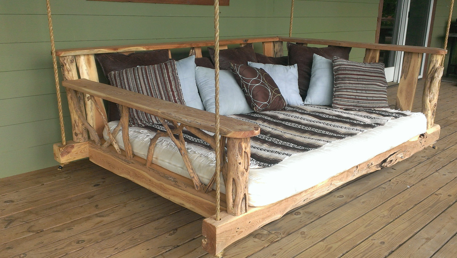 Picture of: Large Wooden Bench Swing