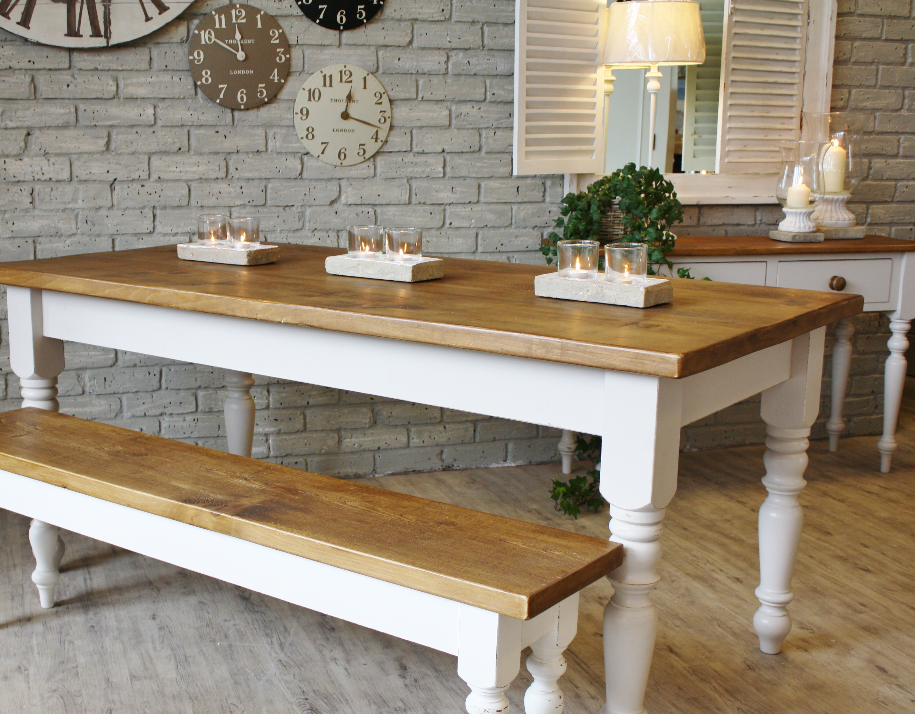 Picture of: Large Wooden Bench Table
