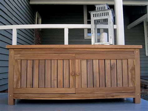 Picture of: Large Wooden Storage Bench