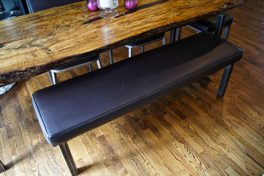 Leather Bench Cushion Idea