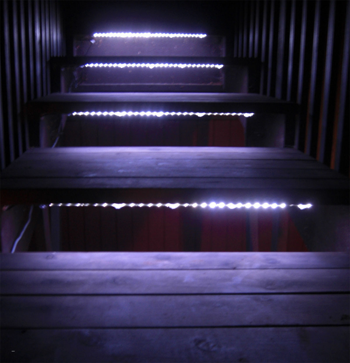 Picture of: Led Outdoor Step Lights Purple