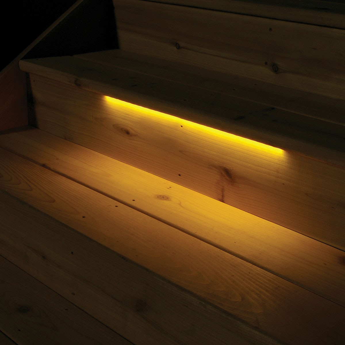 Picture of: Led Outdoor Step Lights Yellow