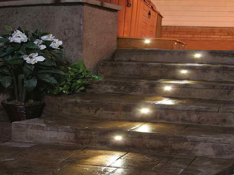 Picture of: Led Step Lights With Photocell