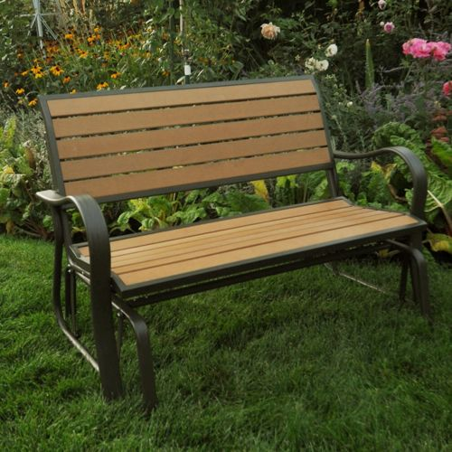 Picture of: Lifetime Wooden Glider Bench