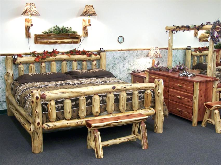 Log Bedroom Sets King