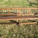 Long Wooden Bench Back