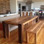 Long Wooden Bench Dining