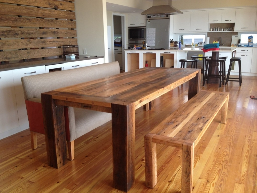 Picture of: Long Wooden Bench Dining