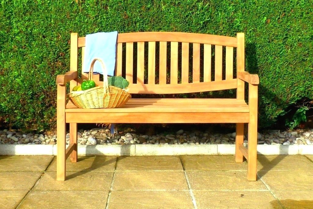 Picture of: Long Wooden Bench Garden