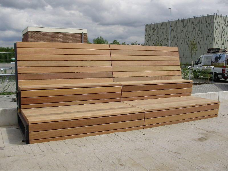 Picture of: Long Wooden Bench Model
