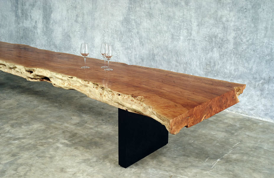 Picture of: Long Wooden Bench Paint