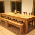 Long Wooden Bench Sets