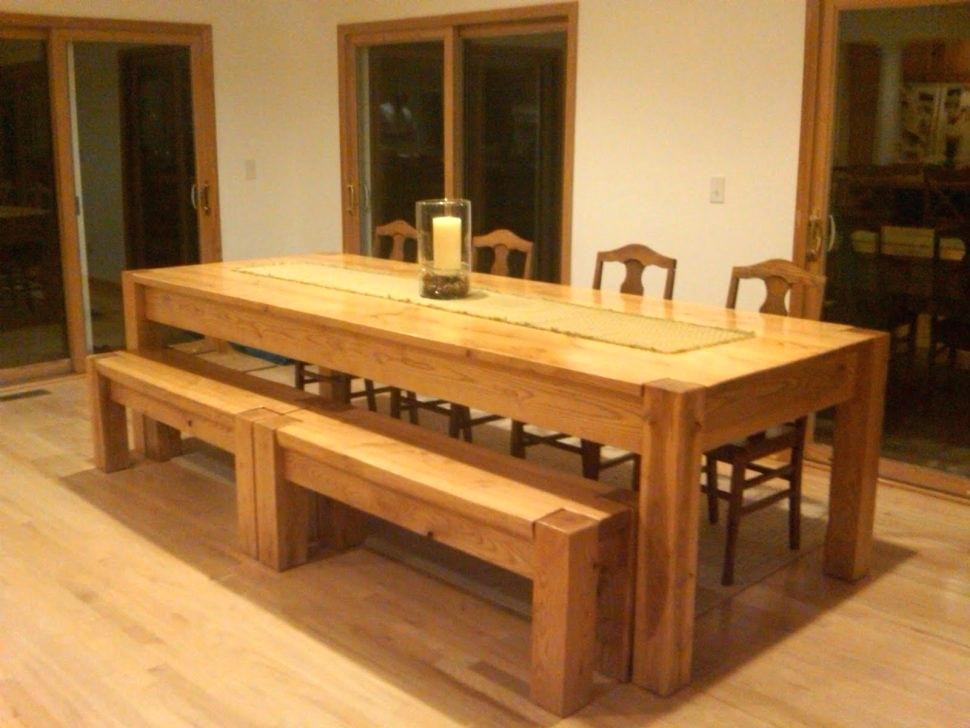 Picture of: Long Wooden Bench Sets