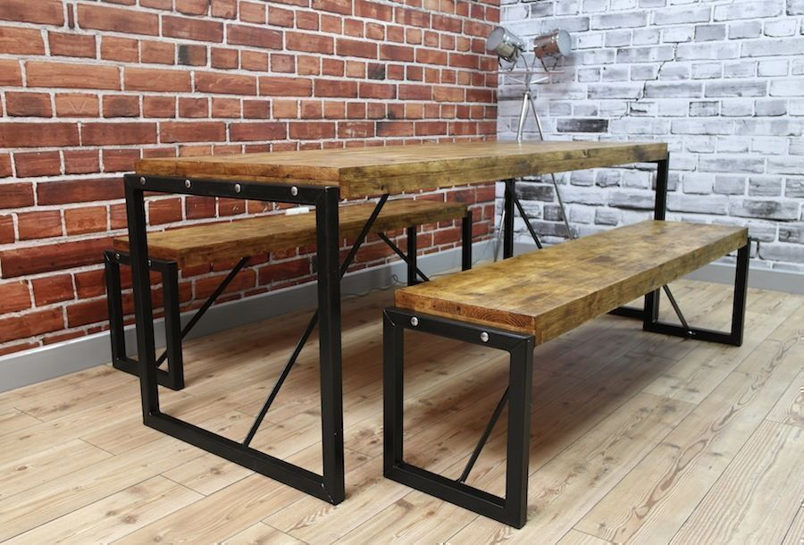 Picture of: Long Wooden Bench Table