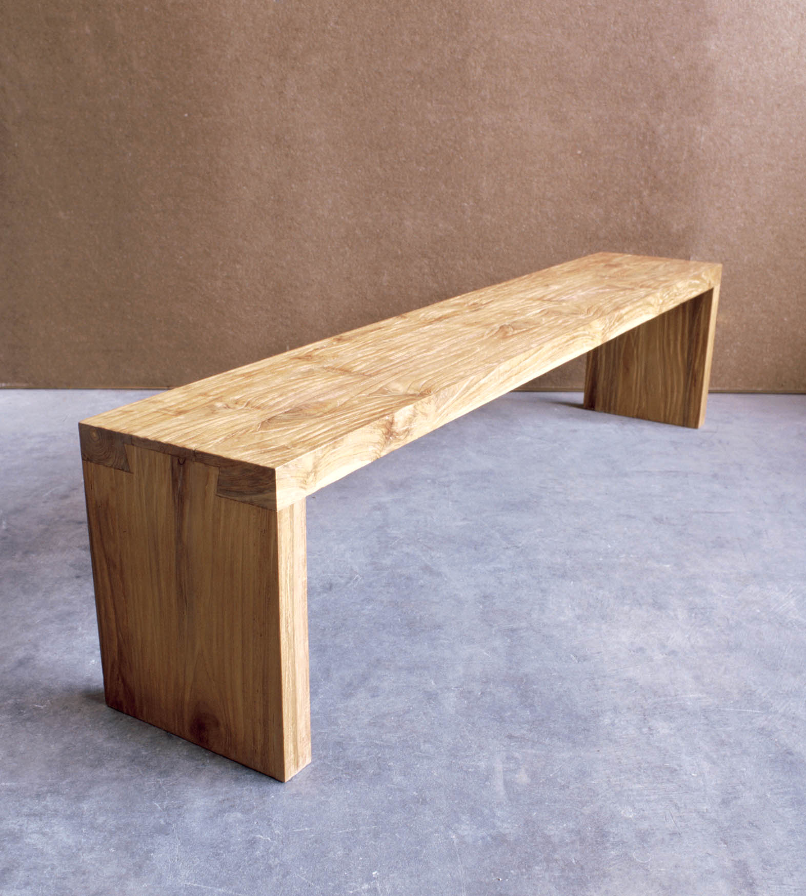 Picture of: Long Wooden Bench Teak