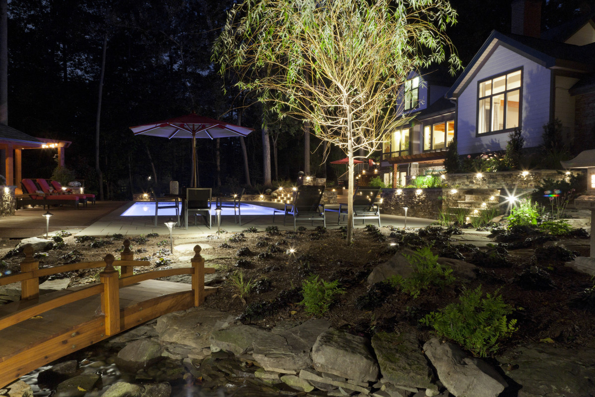 Picture of: Low Voltage Outdoor Lighting Yard