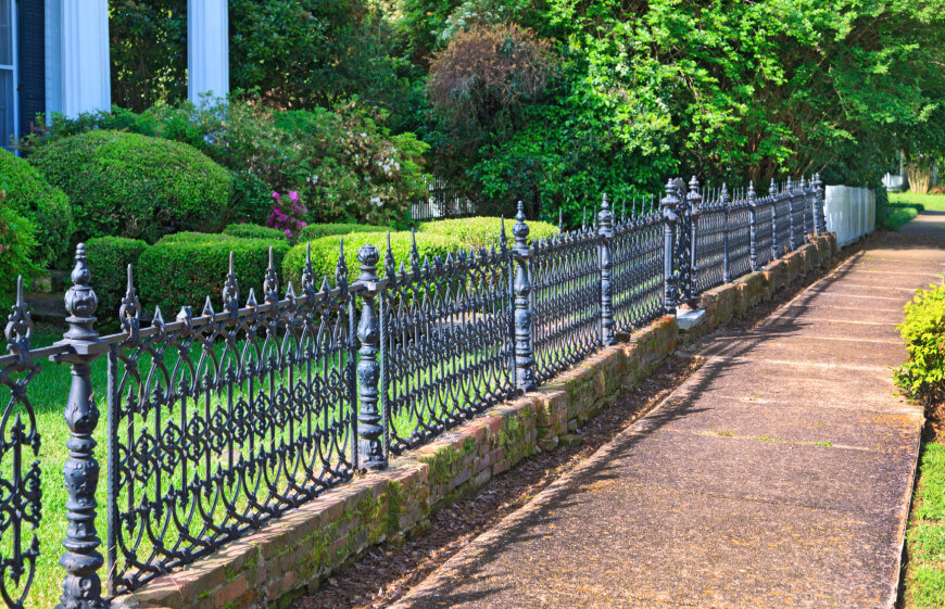 Picture of: Low Wrought Iron Fence Panels