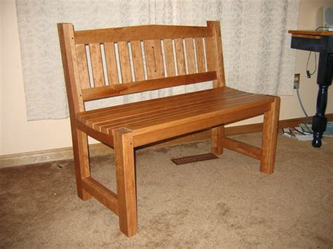 Picture of: Mahogany Wooden Bench Seat
