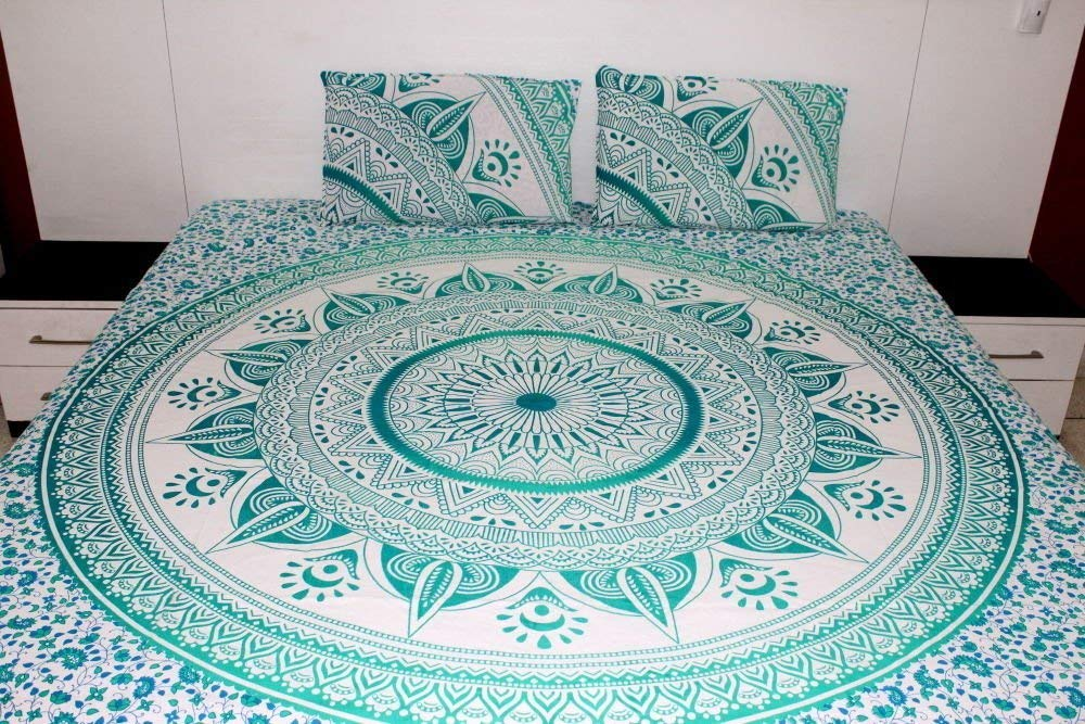 Mandala Bed Set Green