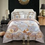 Mandala Duvet Cover White
