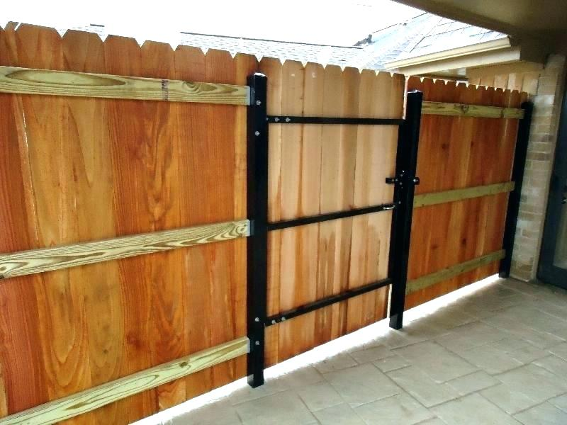 Picture of: Metal Fence Posts for Wood Fence Door