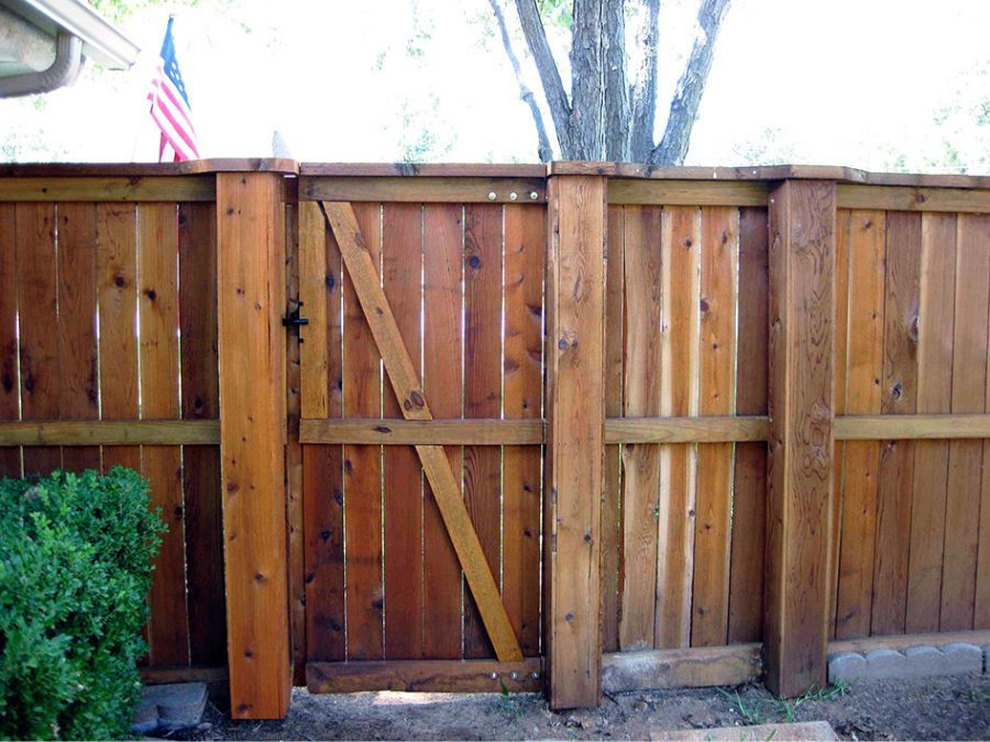 Picture of: Metal Fence Posts for Wood Fence Gates