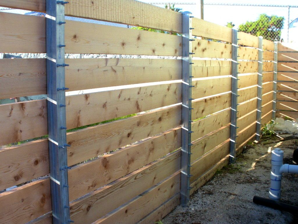 Picture of: Metal Fence Posts for Wood Fence House