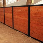Metal Fence Posts for Wood Fence Model