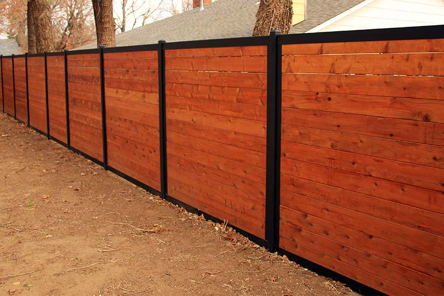 Picture of: Metal Fence Posts for Wood Fence Model