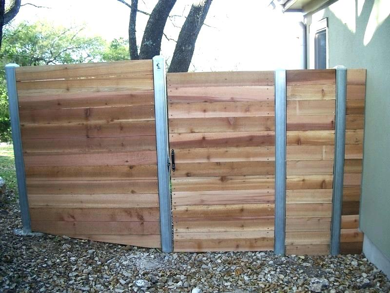 Picture of: Metal Fence Posts for Wood Fence Small