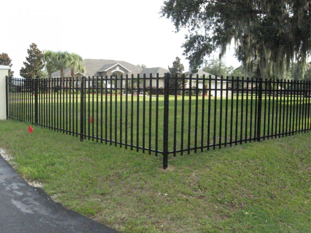 Picture of: Metal Garden Fencing Picture