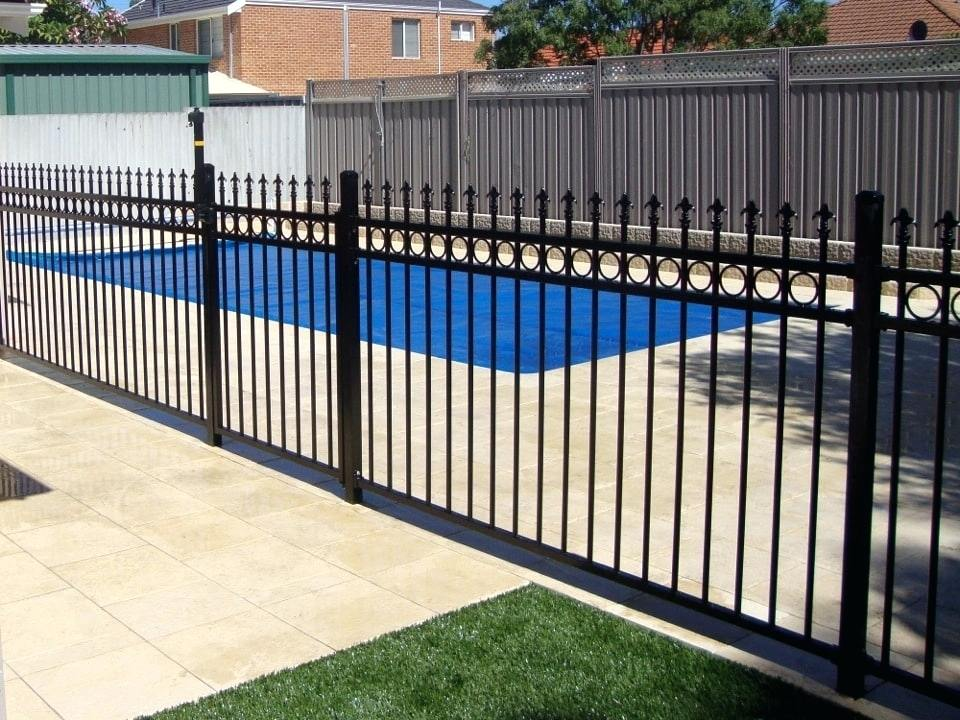 Metal Pool Fence Design Ideas