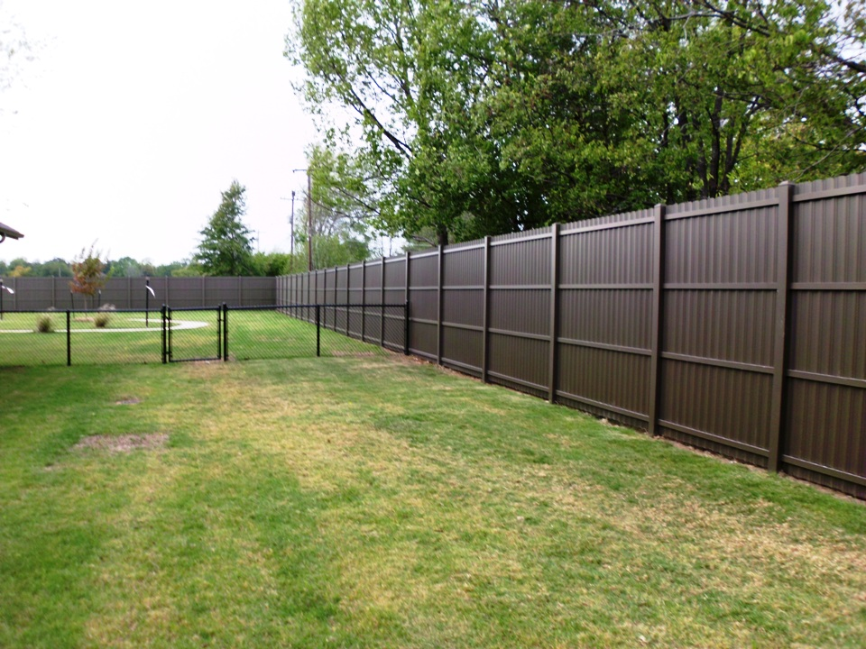Image of: Metal Privacy Fence Inserts
