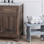 Milk Paint Small Wooden Bench
