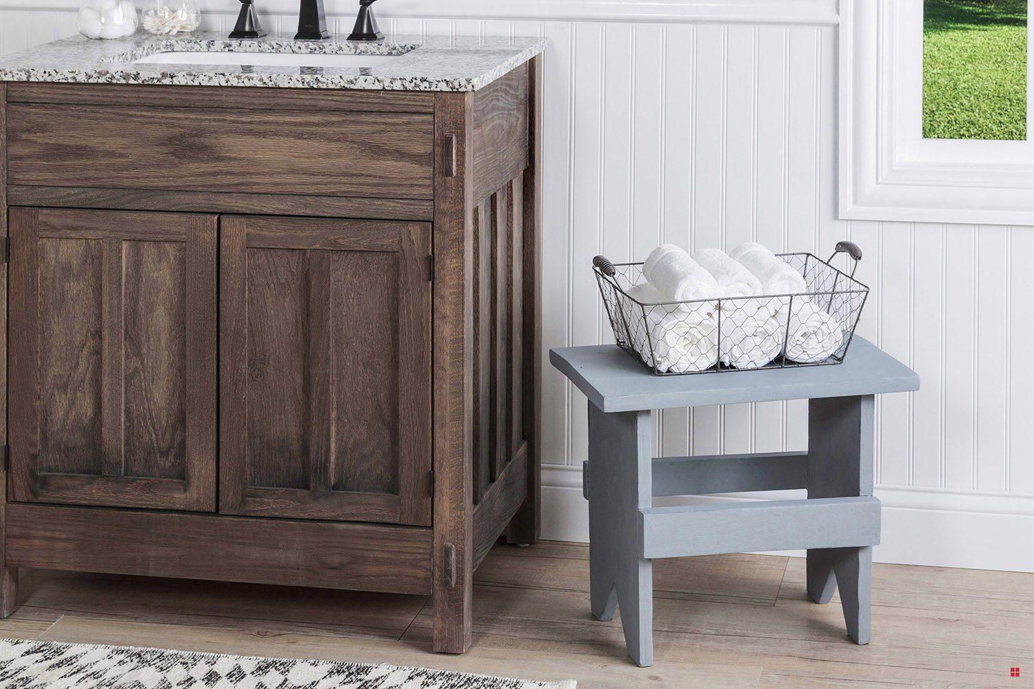 Picture of: Milk Paint Small Wooden Bench
