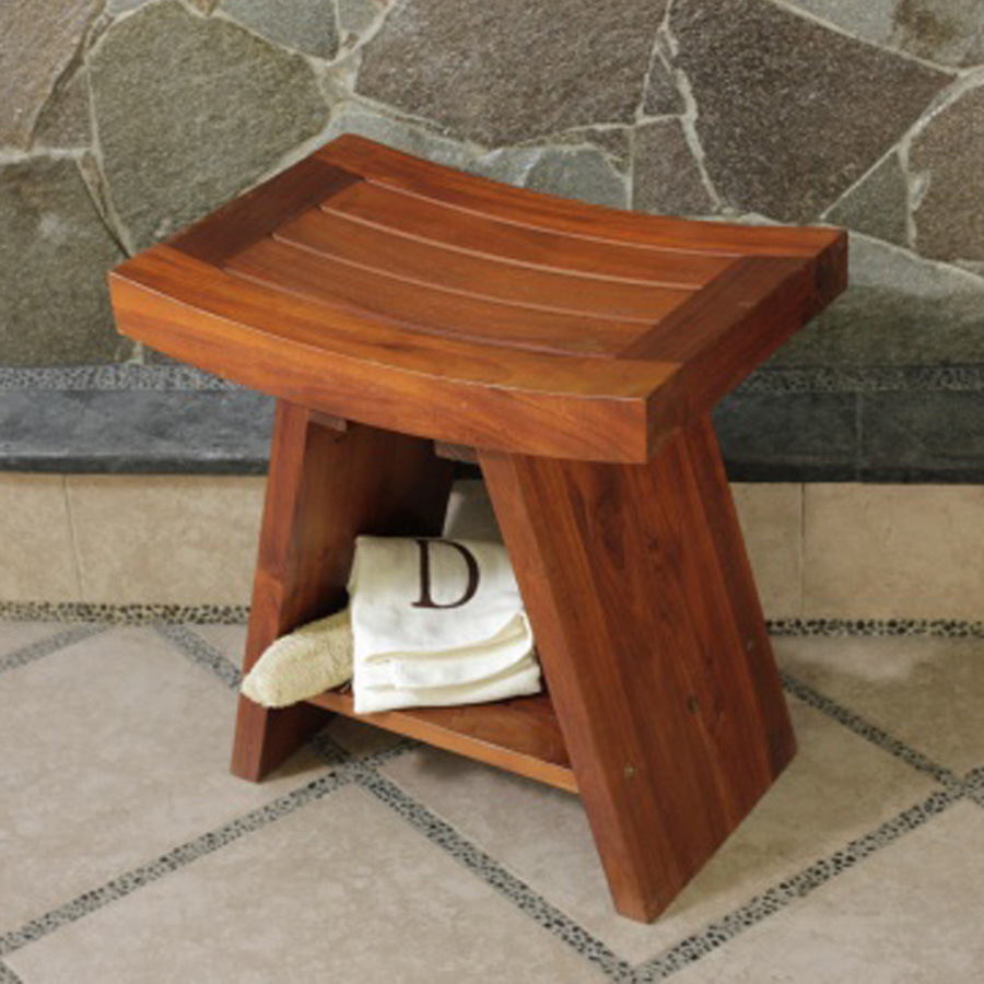 Mini Wooden Shower Bench