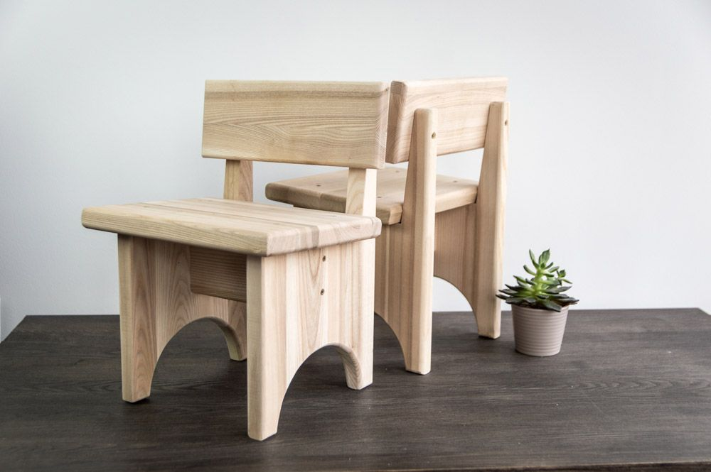 Miniature Small Wooden Bench
