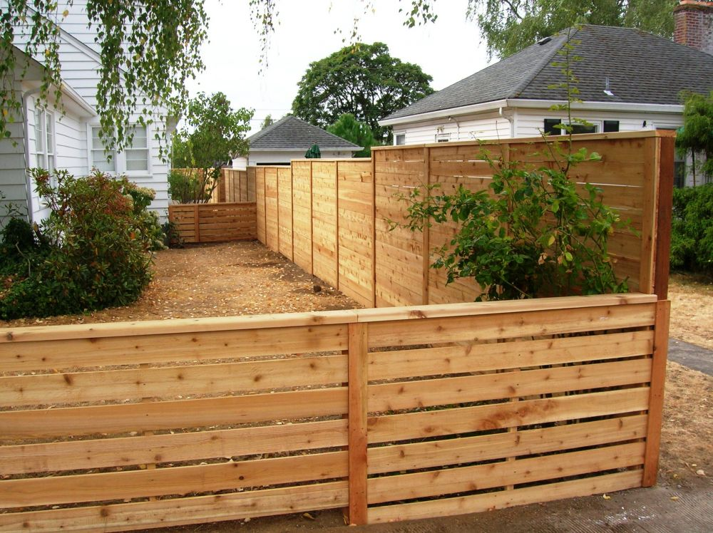 Picture of: Modern Horizontal Fence Ideas