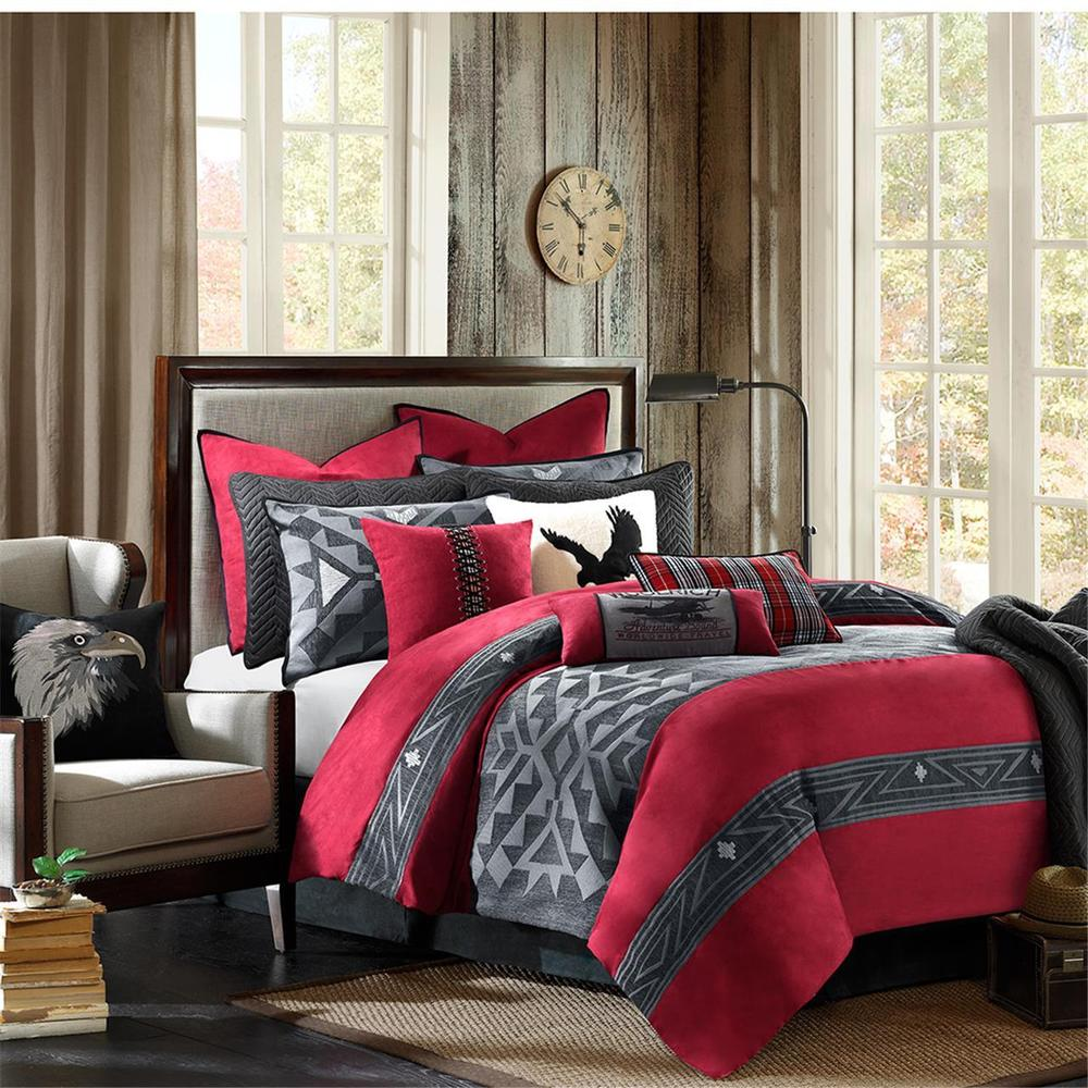 Modern Red And Gray Comforter Sets