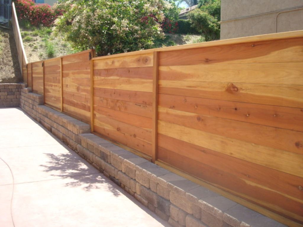 Picture of: Modern Wood Fence Awesome