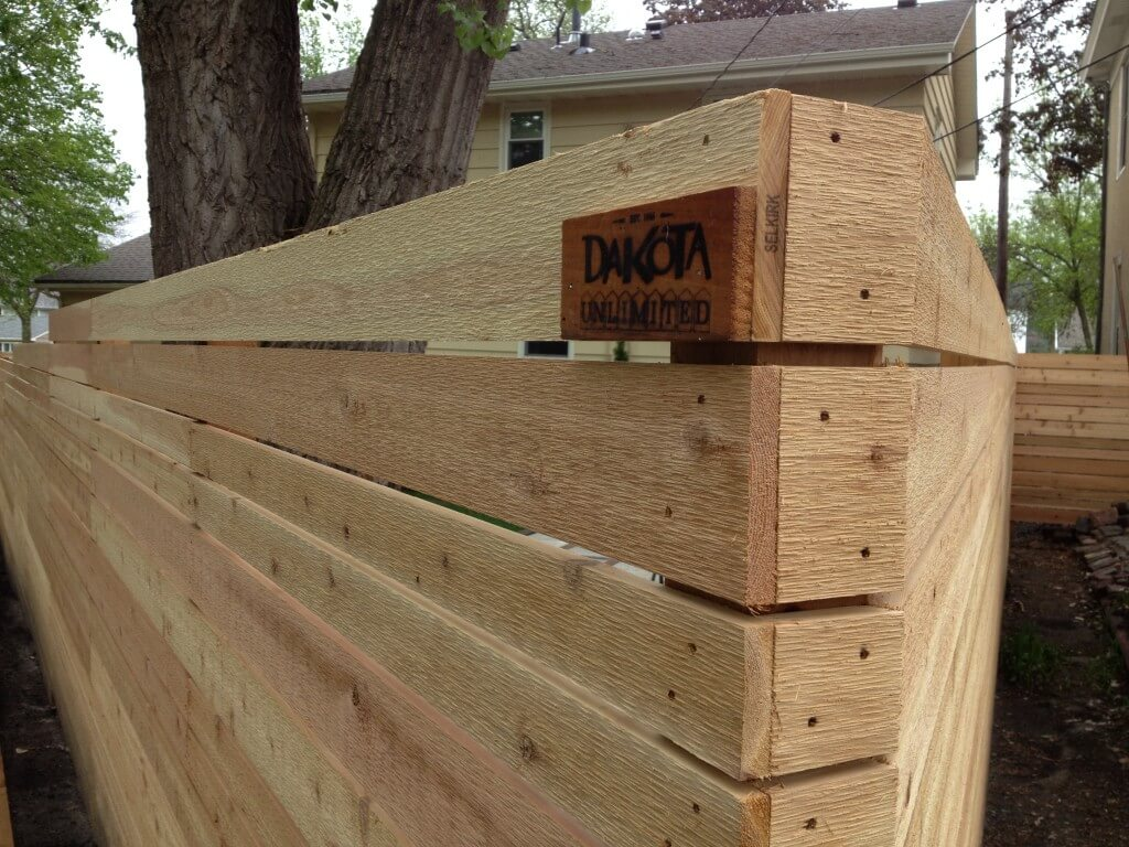 Picture of: Modern Wood Fence Board