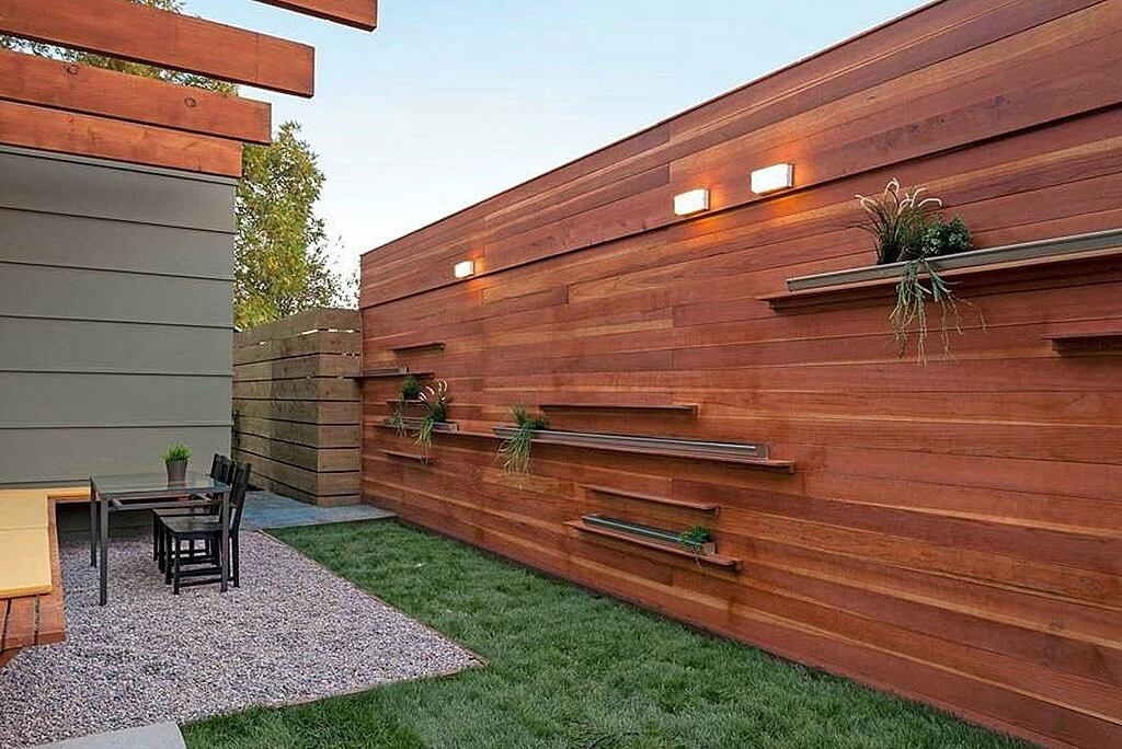 Picture of: Modern Wood Fence Designs