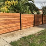 Modern Wood Fence Front