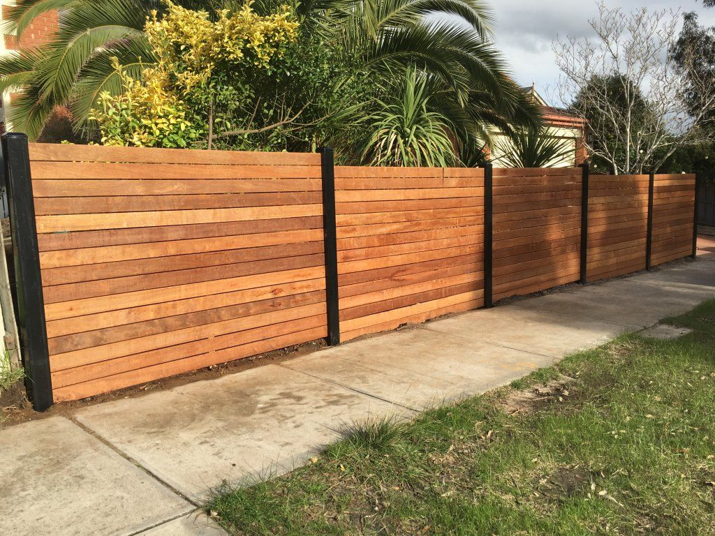 Picture of: Modern Wood Fence Front