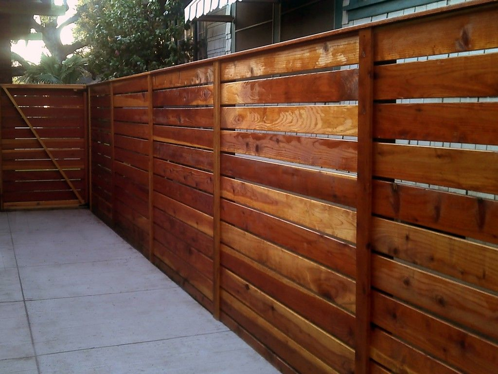 Picture of: Modern Wood Fence Redwood