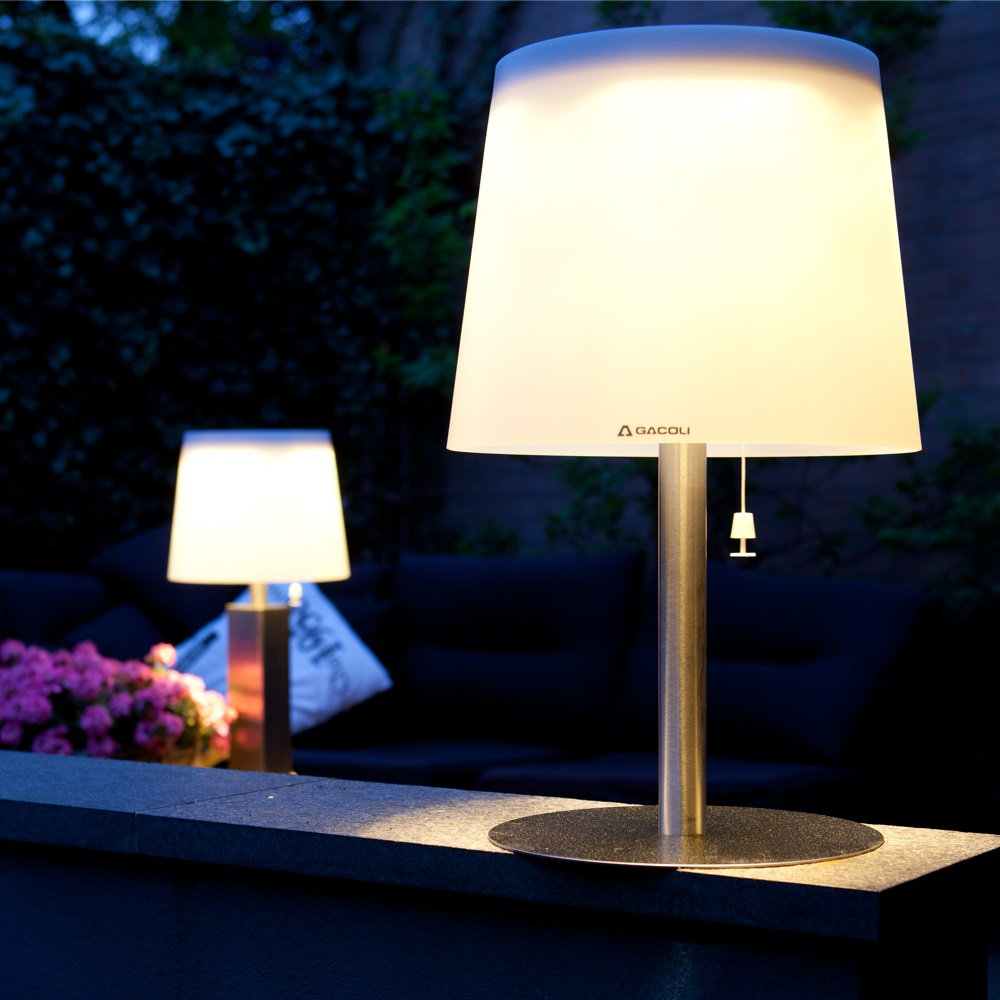Monroe Outdoor Solar Table Lamp