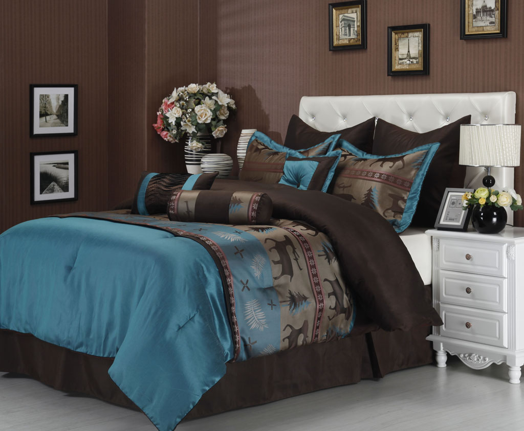 Image of: Moose Comforter Sets Design